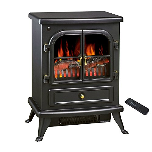 new see through electric fireplace free standing electric 1500w fireplace heater fire flame. Black Bedroom Furniture Sets. Home Design Ideas