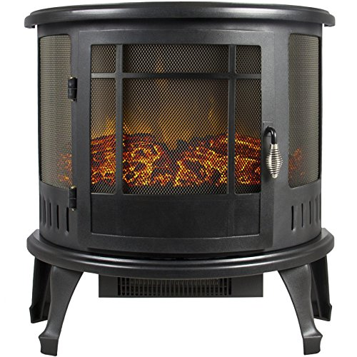 Portable Electric Fireplace Stove Heater Realistic Flame Corner Unit Modern P2
